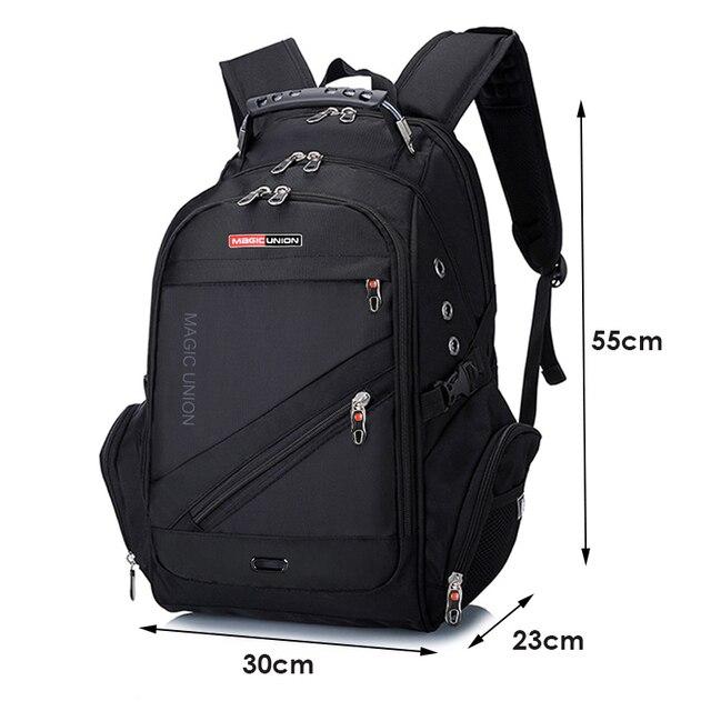 MAGIC UNION 17 Inch Laptop Backpack Men USB Charging Waterproof Oxford Large Travel Backpack Women Rucksack School Bag mochila 1