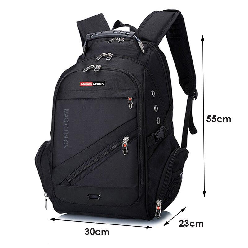 MAGIC UNION 17 pouces sac à dos pour ordinateur portable hommes USB charge imperméable Oxford grand voyage sac à dos femmes sac à dos cartable mochila - 2