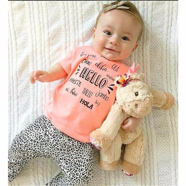 2018 Summer Baby Girl Clothes 2pcs / Set Pink Fox T-shirt pants Baby Clothing Sets Baby Girl 2 Piece Suite