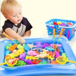47 деталей/Лот, магнитные игрушки для рыбалки, надувная удочка для бассейна, набор для детей, детская модель, игра для игры на открытом воздух...