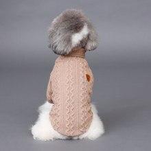 Симпатичные зима Теплая собака кошка Свитер sweatershirt Пуловер собака щенок Чихуахуа крючком вязать одежды маленькая собака Пальто куртки балахон
