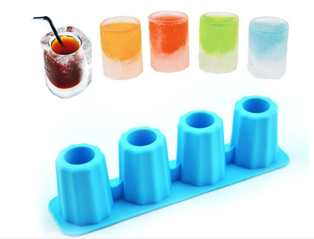 Creative DIY Ice Cube Tray Mold Cup Mould Makes Shot Glasses Ice Mould Novelty Gifts Ice Tray Summer Drinking Kitchen Tool