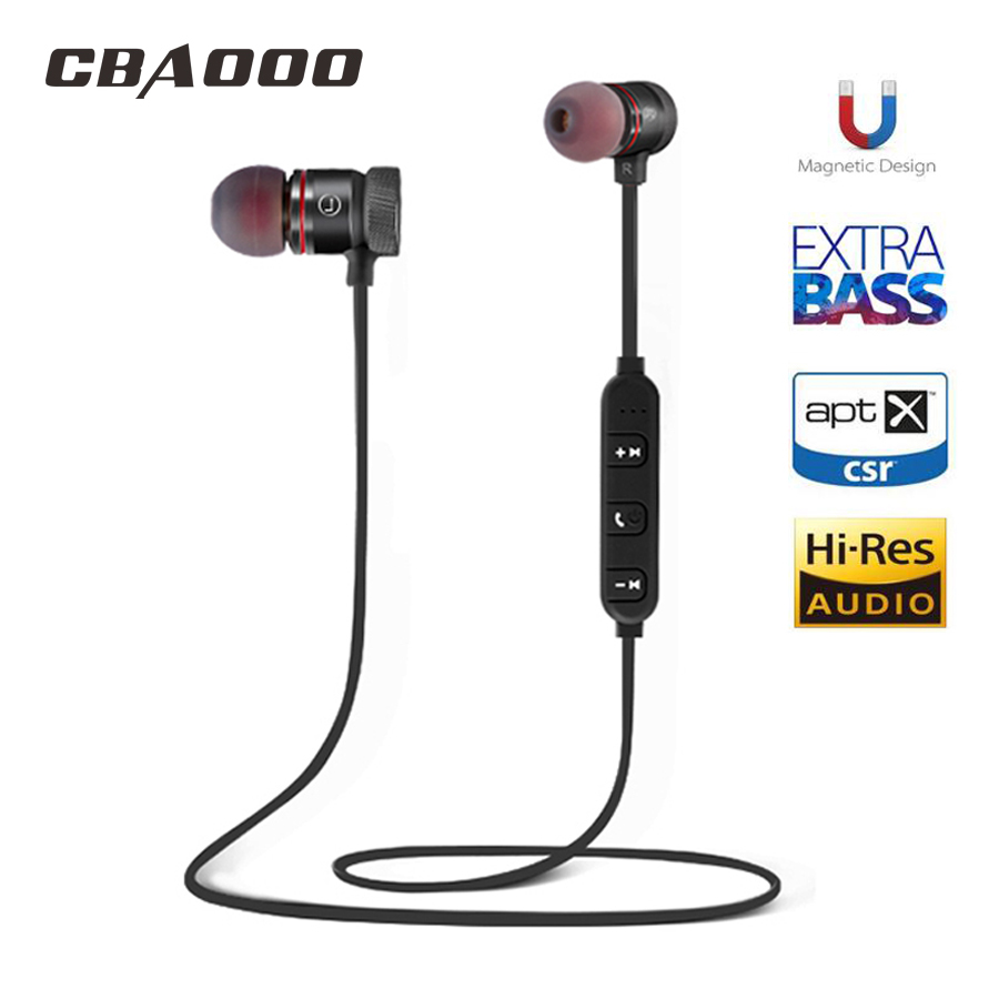Bass Bluetooth Earphone Wireless Headset Headphones With Mic Stereo Magnetic Blutooth Earphones for Mobile Phone Sports sq u6 wireless v4 1 magnetic stereo earphones
