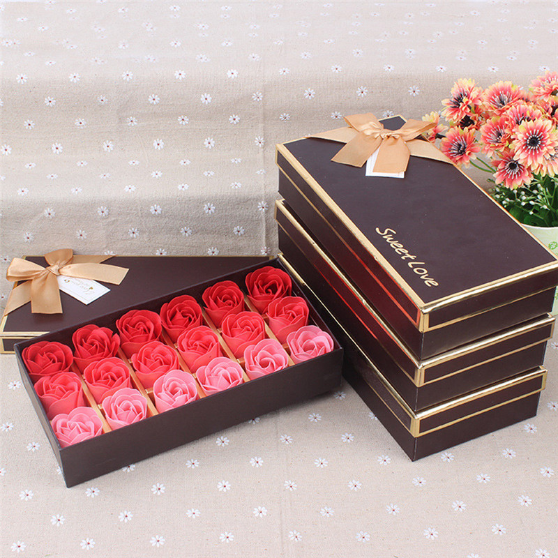 18Pcs Scented Rose Flower Petal Bath Body Soap Wedding Party Gift 5