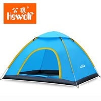 Hewolf 200*180*130cm 3 4 Person Automatic Tent Single Layer Waterproof Tents Beach Fishing Tents