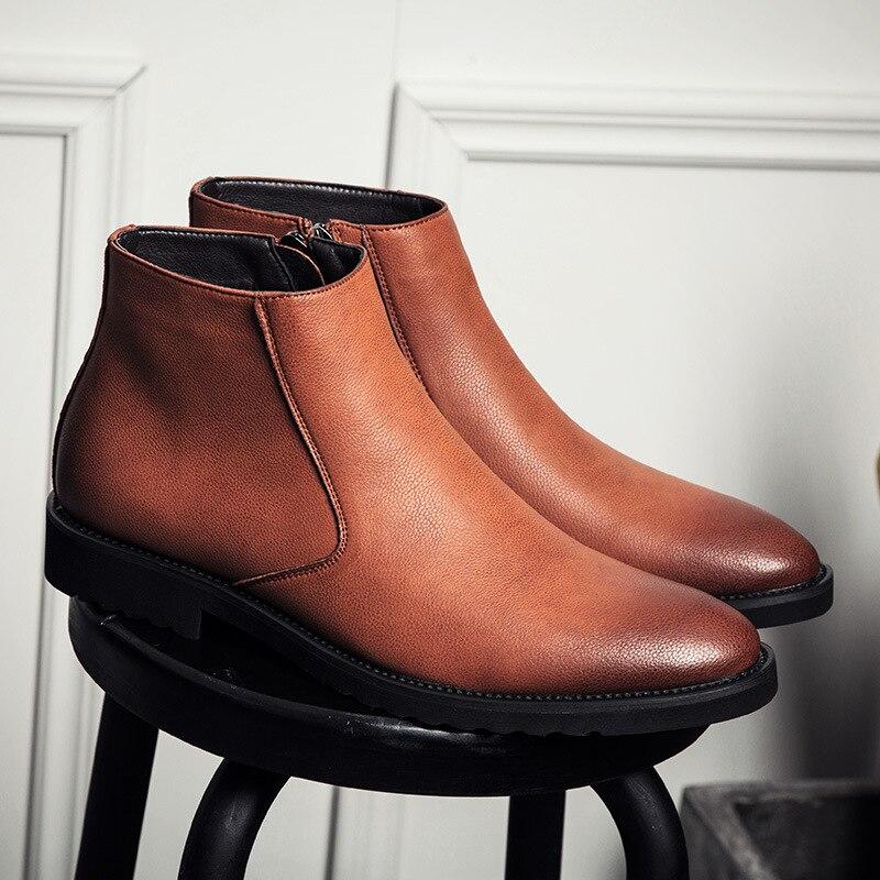 Classic Chelsea Boots Men 2018 Winter