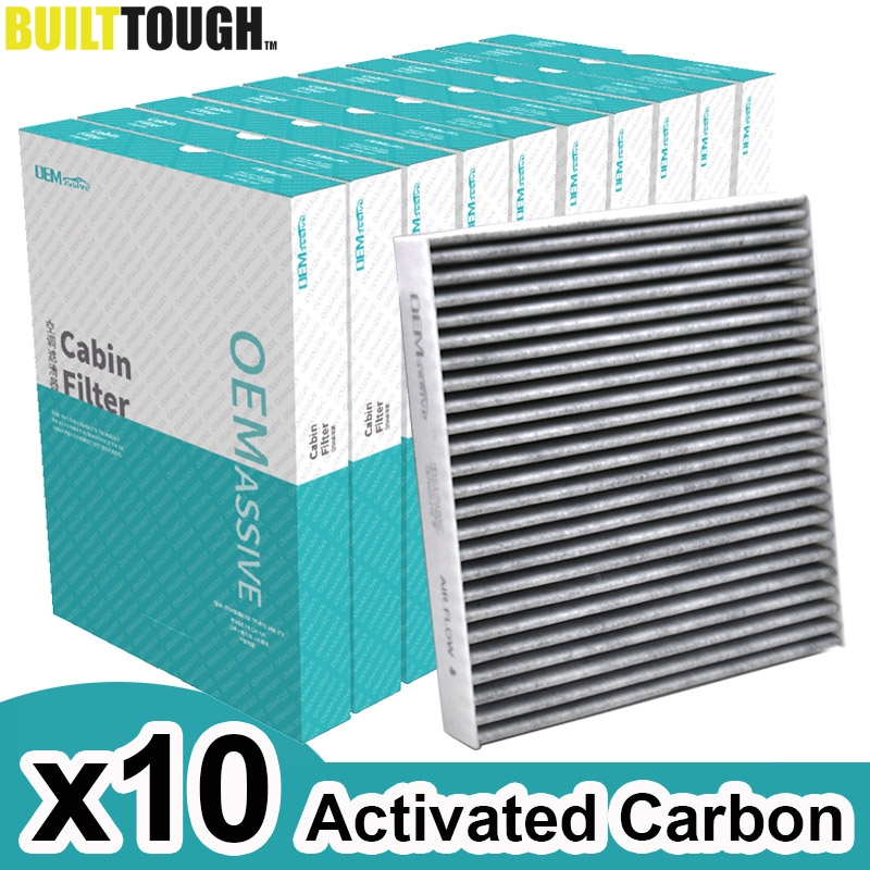 10x Car Pollen Cabin Air Conditioning Filter Activated Carbon For Nissan Murano Teana X trail Mitsubishi