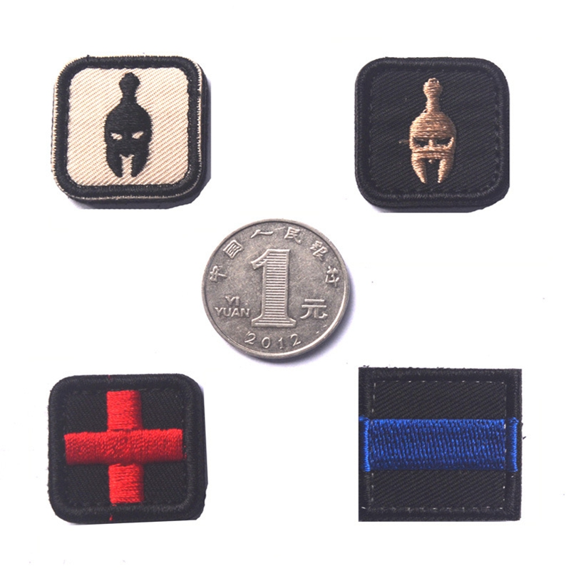 Entertainment Memorabilia 50 Pcs Cross Medical Patch Morale Tactical Patches Hook & Loop Embroidery Badge Military Army Armband Badge 2.5*2.5cm Wholesale