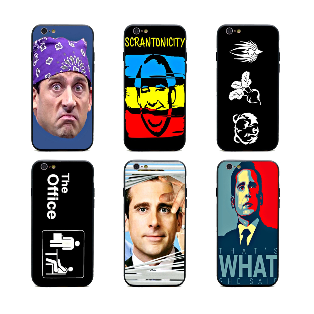 best service 4f569 4c714 US $1.64 34% OFF TV the office cast meme phone cases TPU+PC Black covers  for iPhone X 6 7 8 plus 5 5s 6s se for Apple X best diy case-in  Half-wrapped ...