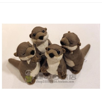Free shipping 20cm 50cm Stuffed Animals Polar Sea World Simulation Cute Otter Doll Toy for children gift mr froger carcharodon megalodon model giant tooth shark sphyrna aquatic creatures wild animals zoo modeling plastic sea lift toy