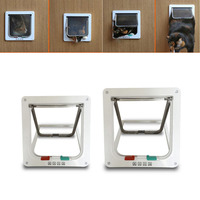 Controllable 4 Way Locking Indoor Outdoor Pet Cats Small Dogs Door Kit With Telescopic Frame Small