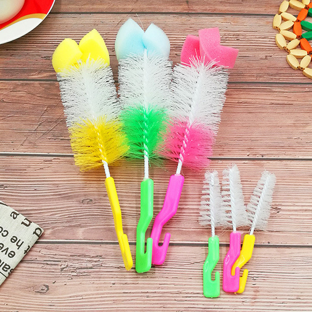 Baby Bottle Brush Cleaner Spout Cup Glass Teapot washing windows cleaning brush Tool brush for bottles silicone sponge for ware Nibbler