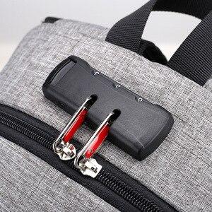 Image 4 - BERAGHINI 2018 秋の新メンズ防水バックパック USB 充電バックパックのためのフィット 15.6 インチラップトップ盗難防止ロック