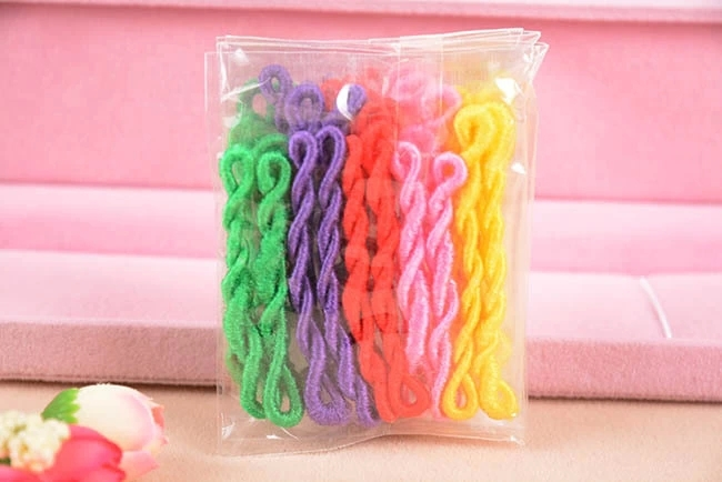 200pcs/lot Normal Rainbow Style Colour Cute Elastic Ponytail Holders Hair Accessories Girl Women Rubber Band Tie Gum(Mix Color)