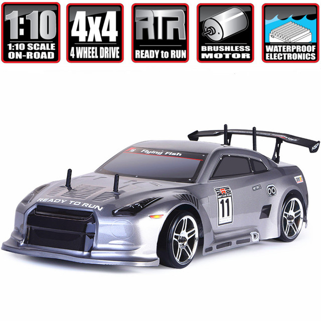HSP Rc Car 1:10 4wd On Road Rc Drift Car 94123PRO FlyingFish Electric Power Brushless Lipo High Speed Hobby Remote Control Car