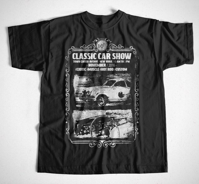 T SHirt Classic Car Show S XXXL Oldtimer Rennfahrer Kfz Mechaniker - Classic car show york