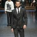 2015 homem blazer do vintage terno masculino magro jacquard de negócios preto casuais moda para o desempenho cantora dançarina