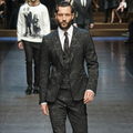 2015 man blazer vintage suit male slim jacquard black business casual fashion for singer dancer performance