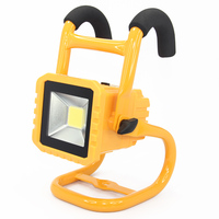 IP65 Waterproof 20W LED Flood Light Outdoor Rechargeable Spotlight Camping Work Lamp Light Detachable Battery Dimmable