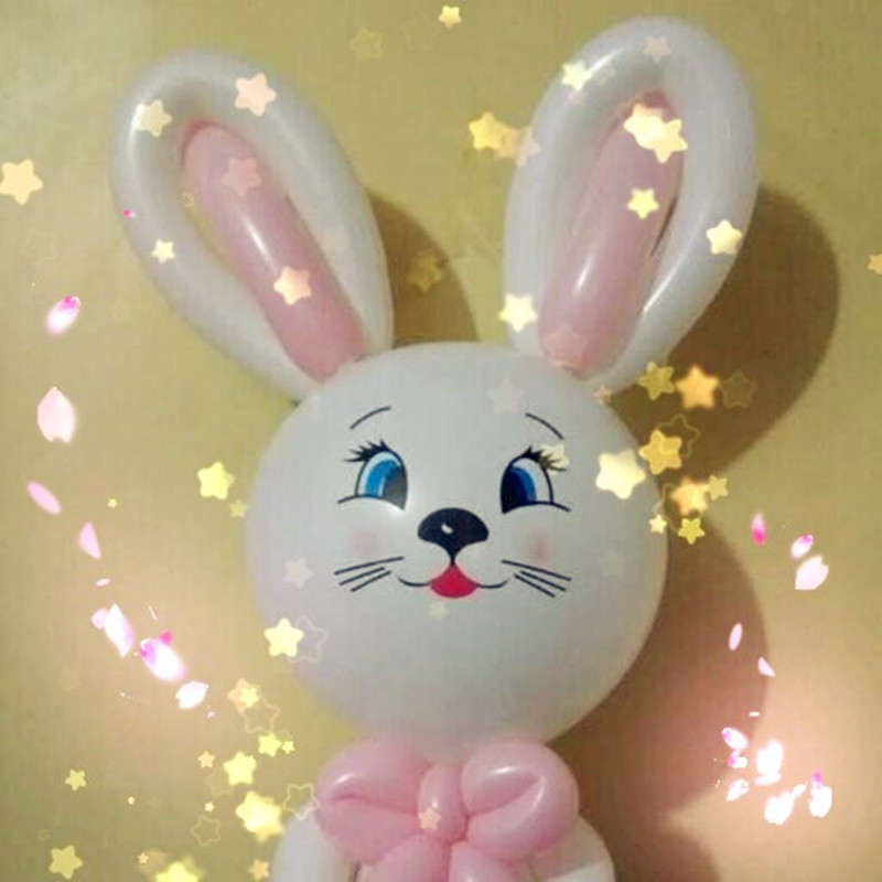 12 inch 2.8 g round balloons of rabbit balloon filled cartoon smiling face expression latex balloon