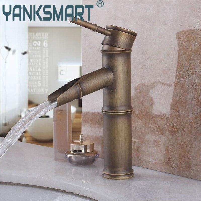 Robinet de lavabo salle de bain cascade salle de bains en laiton Antique robinet de cuisine lavabo mitigeur