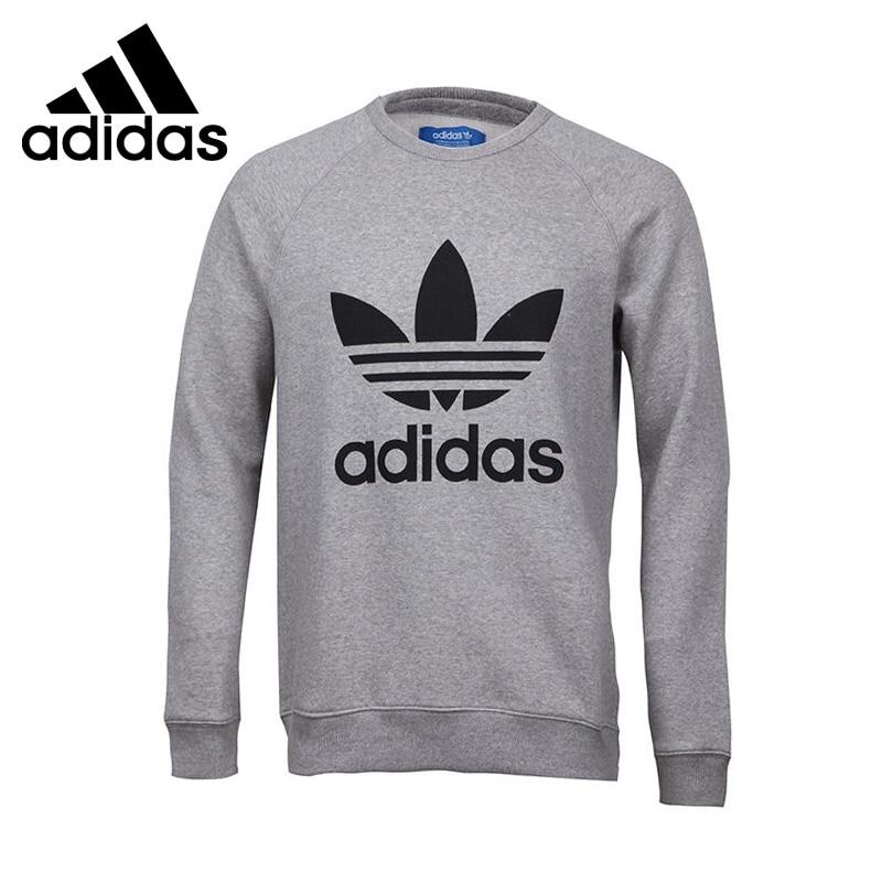 Original New Arrival 2017 Adidas Originals TREFOIL CREW Men's Pullover Jerseys Sportswear adidas original new arrival official neo women s knitted pants breathable elatstic waist sportswear bs4904