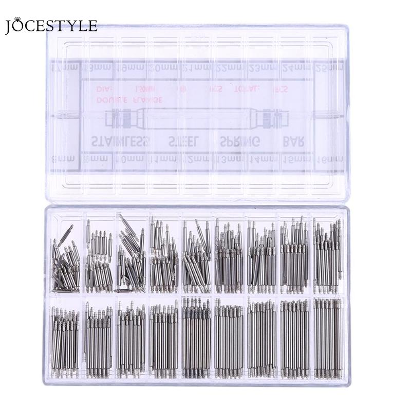 360pcs 8 To 25mm Watch Band Spring Bars Strap Watch Bracelet Link Pins Steel Watchmaker Clock Repairing Tool Watch Repair Tool