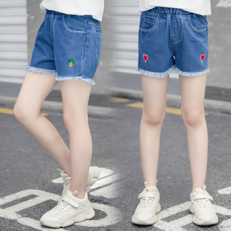 2020 Hot Summer Baby Shorts Fashion Beauty Cute 4 5 7 9 11 13 Years Children Short Jeans Shorts Kids Girls Denim Tassel Shorts 1