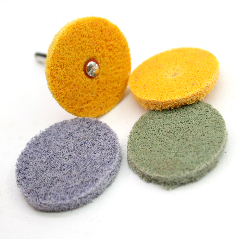 Scouring Sponge Polishing Disc Scouring Cloth Rust Moving Surface Clearing Bits Nylon Non-woven Fiber Disc 150# 240# 320# 600#