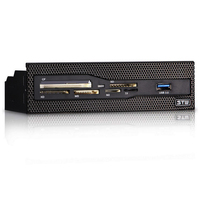 Sunshine-tipway STW-lector de tarjetas interno de 5,25 pulgadas, tablero multifunción, PC, Panel frontal, USB 3,0, compatible con CF, XD, MS, M2, TF