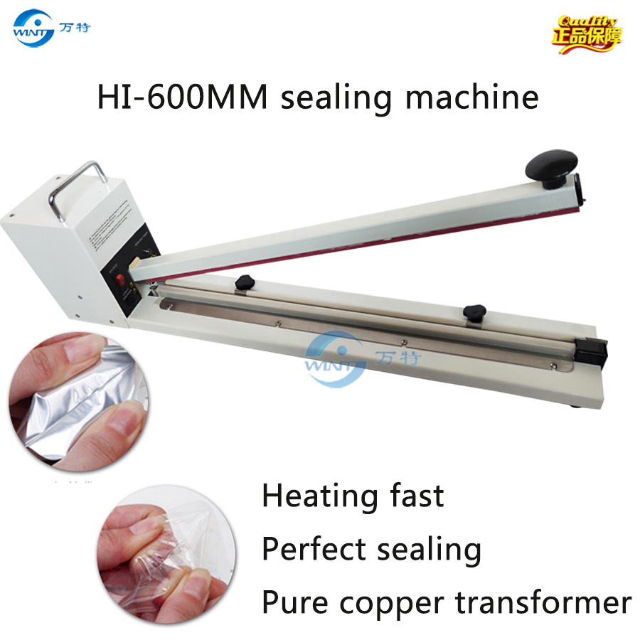 Free Shipping Impulse Sealer size 600mm plastic bags impulse sealer, film bags impulse sealing machine,foil bags impulse sealer