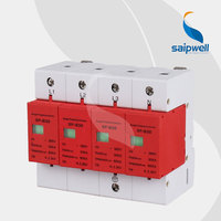 90*90*65mm AC 385V 20KA Voltage Protector, Surge Protector,Surge Protective Device 4P,CE UL Approval