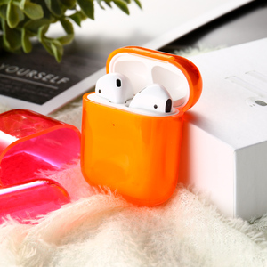 Image 2 - Voor Airpods Case Siliconen Snoep Kleur Transparant Fundas Voor Air Pods 2 Oortelefoon Cases Protector Voor Airpods Pro Soft Tpu cover