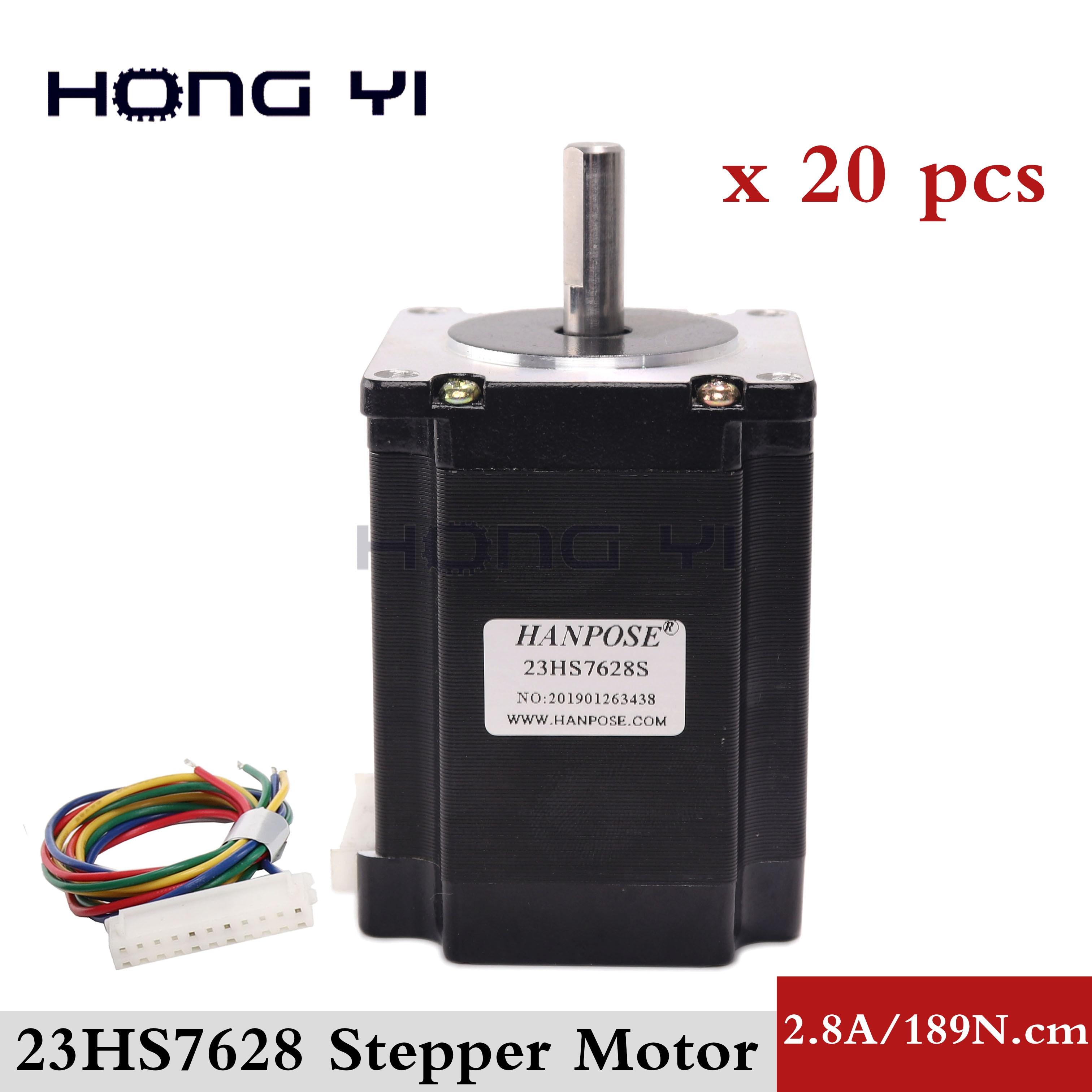 20PC Nema23 Stepper Motor FL57STH76 2804A 23HS8430 4 Lead 270oz in 76mm 2 8A Bipolar CE
