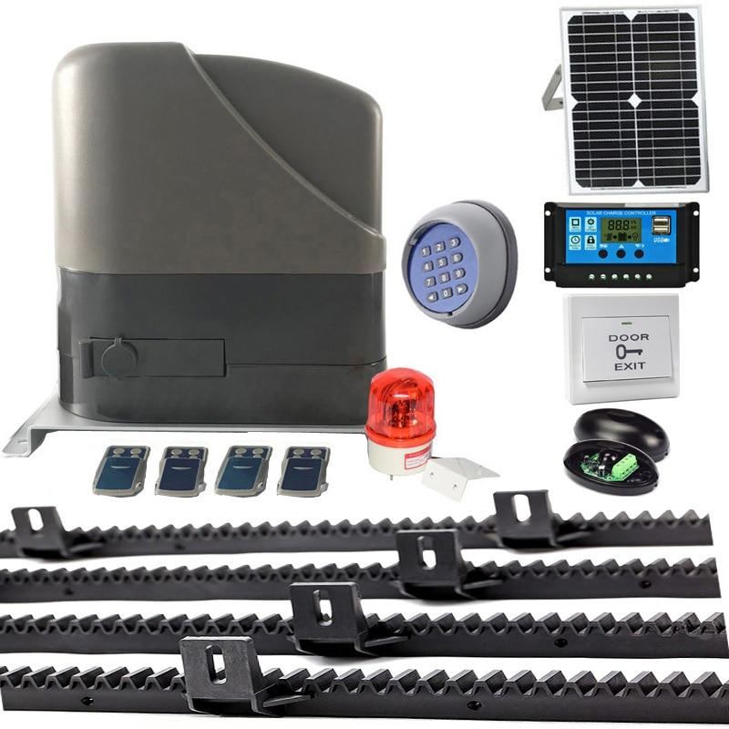800KGS 12VDC Residetial Gear System Eletric Sliding Gate Opener /sliding Door Motor Solar Powered Of 4M Racks