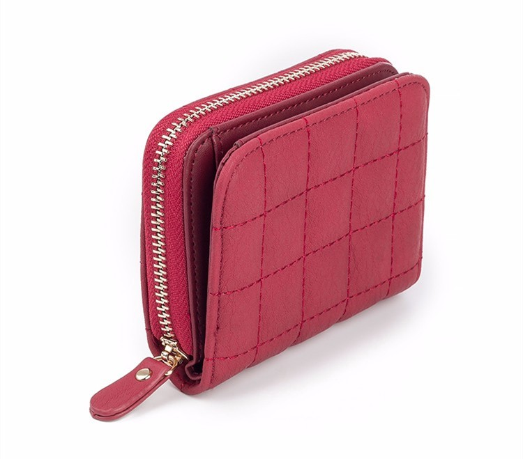 Women's Plaid Leather Wallets