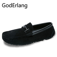 GodErlang Loafers Driving Shoes Shoes Without Laces Men Loafers Moccasins Red Black Khaki Hot Sale 2018