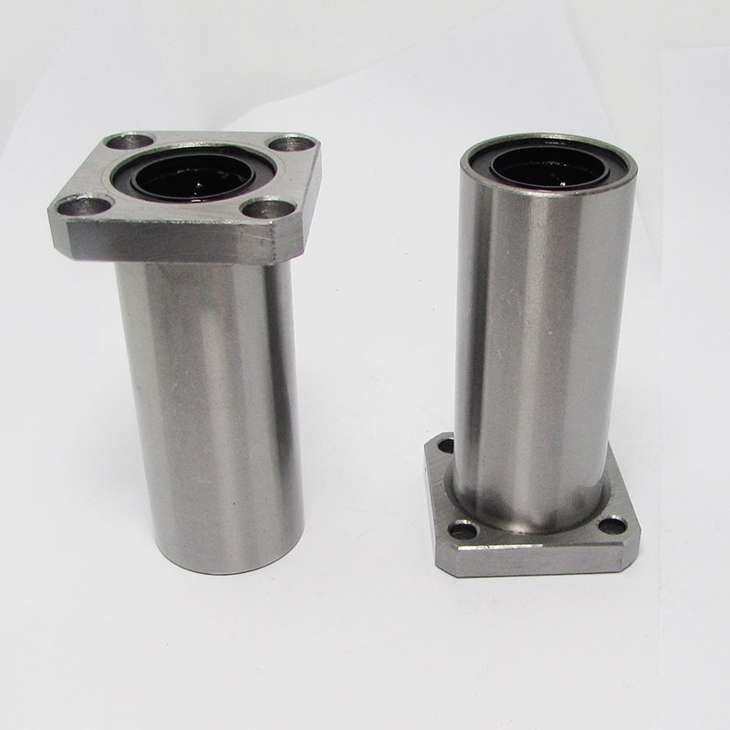 2pcs LMK12LUU 12mm bearing square flange long linear ball bearing for 12mm linear guide rail rod round shaft cnc bearing free ship 1pc solid carbide 6mm endmill double two flute spiral bit cnc router bits ced 6mm 62mm milling cutters