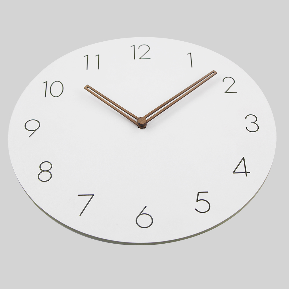 2018 Hot Selling Slient MDF Wooden Wall Clock Modern Design Vintage Rustic  Shabby Clock Quiet Art Watch Home Decoration  In Wall Clocks From Home U0026  Garden ...