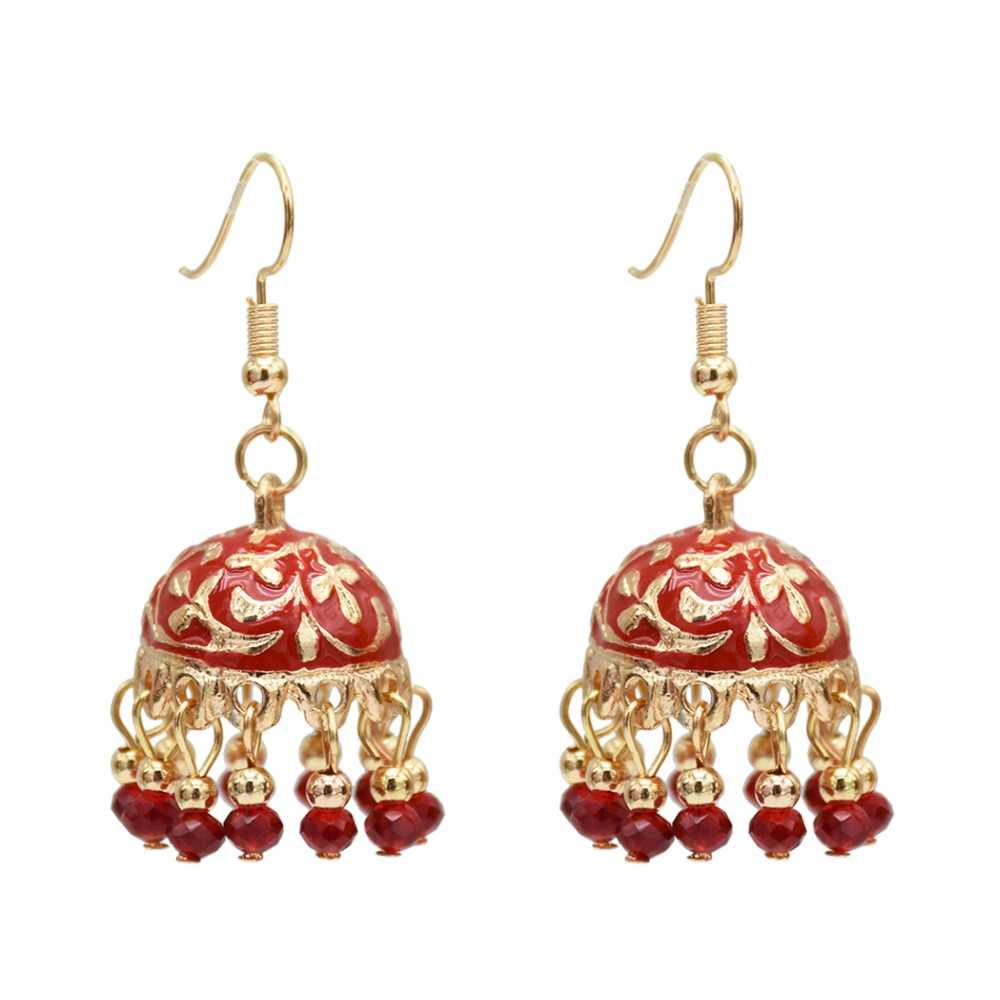 9c02eb651 New Ethnic Indian Resin Beads Statement Earrings for Women Hippie Gypsy  afghanistan Thailand Wholesale Festival Jewelry