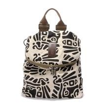Женская мода рюкзаки высококлассные хлопок ткань мини женщины маленький рюкзак печать на холсте женский рюкзак для девочек-подростков