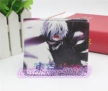 Anime de japón tokio Ghoul carteras máscara cosplay Bifold unisex wen & women monedero de cuero de la PU carpeta cero 2015 nuevos YJ004A envío gratis