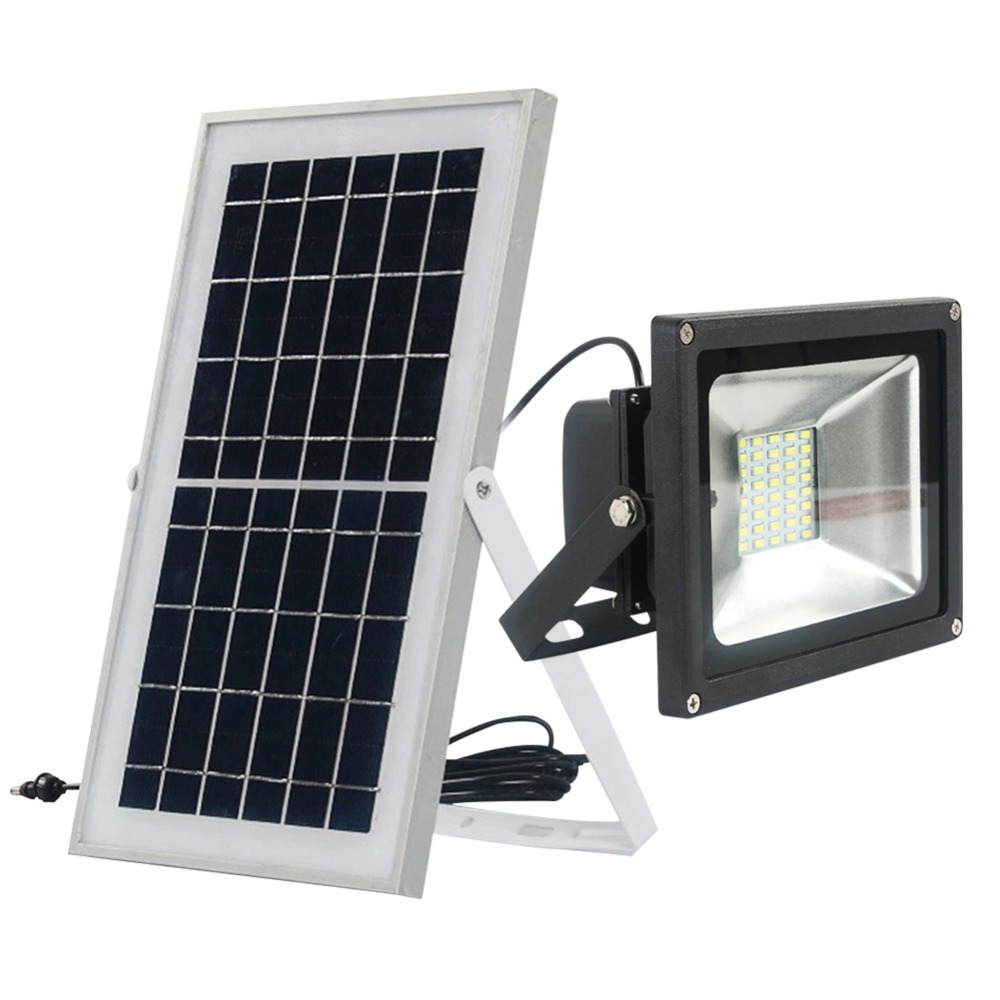 Xinpuguang 10W 20W 30W 50W solar panel solar floodlight camp Spotlight LED Wall Lamps for Garden Outdoor street illumination