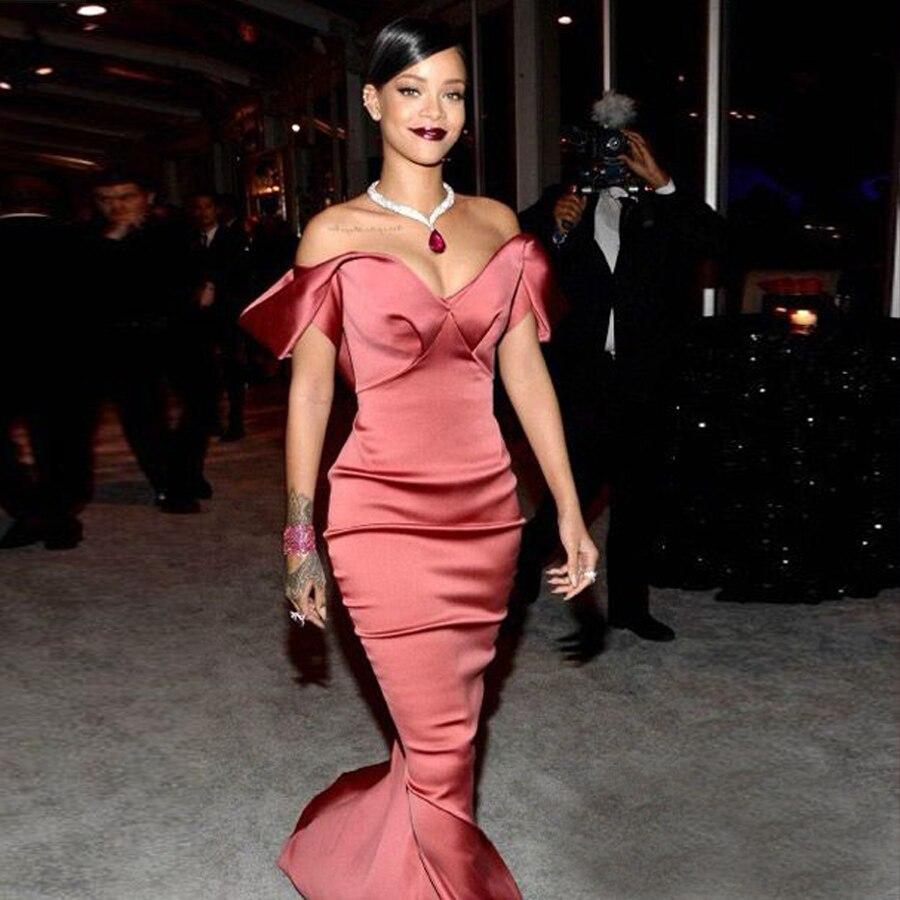 Celebrity co 2016 new Rihanna diamond party peach Red