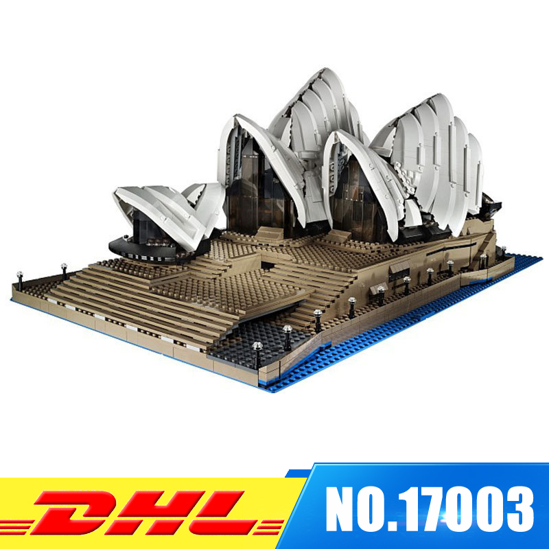 Fit For 10222 IN STOCK DHL LEPIN 17003 Sydney Opera House Model Set Building Kits Blocks Bricks Christmas Gift Toy simply red farewell live in concert at sydney opera house