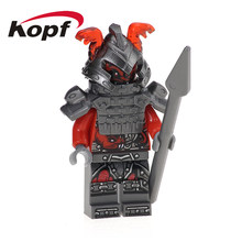 Single Sale Wermin The Wei Snake Master Wu Ninja Pirate Building Blocks Super Heroes Action Figures Toys for children XH 577(China)
