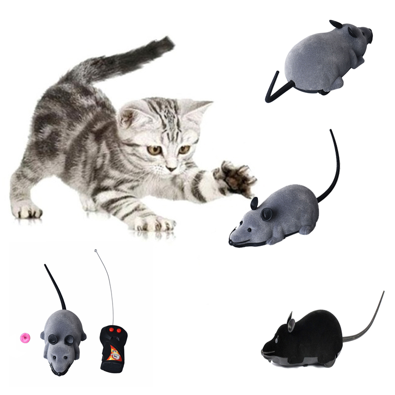 High Quality New Scary R/C Simulation Plush Mouse Mice With Remote Controller Kids Toy Gift Gray Black Free Shipping ...