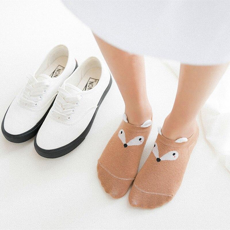 1 Pair New Arrival 5 Colors Women Spring Summer Cotton Kawaii Cute Cat Ankle   Socks   Short   Socks   Casual Animal Ear Gril Boat   Socks