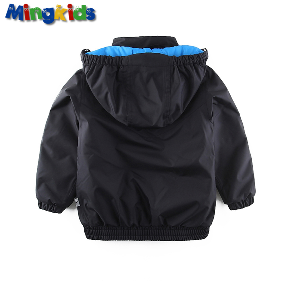 Mingkids Outdoor thermal Boy jacket winter clothes Waterproof Windproof coat for cotton lining spring autumn New Arrivals in Jackets Coats from Mother Kids