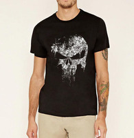 2016 Punisher Skull Marvel Comics Supper Hero T Shirt Men Summer Cotton Streetwear Hip Hop TShirt